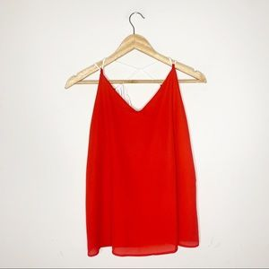 Mary & Mabel Red Tank Top Size Medium NWT
